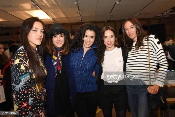 Mai Lan Chapiron Elise Chassaing actress Sabrina Ouazani TV presenter Audrey Sarrat and Janane Boudili attend Stephane Kelian Pop Up Store Launch at...