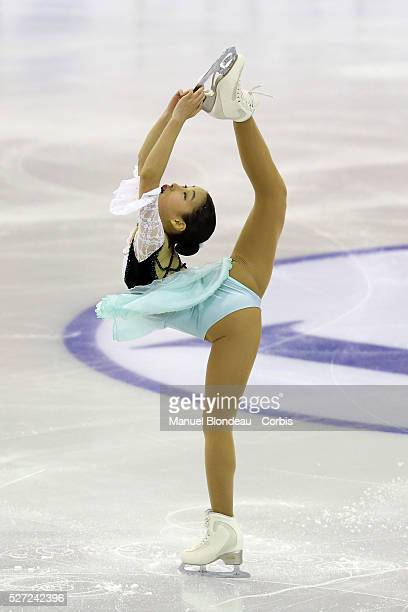 Mai Mihara of Japan competes during Junior Ladies free program at the ISU Figure skating Grand Prix Final 20152016 at the Barcelona Convention Centre...