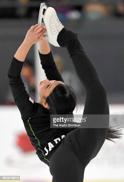 Mai Mihara of Japan in action during the official practice ahead of the Autumn Classic International at Sportplexe Pierrefonds on September 20 2017...