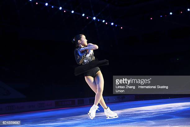 Mai Mihara of Japan performs during the Exhibition Program on day three of Audi Cup of China ISU Grand Prix of Figure Skating 2016 at Beijing Capital...