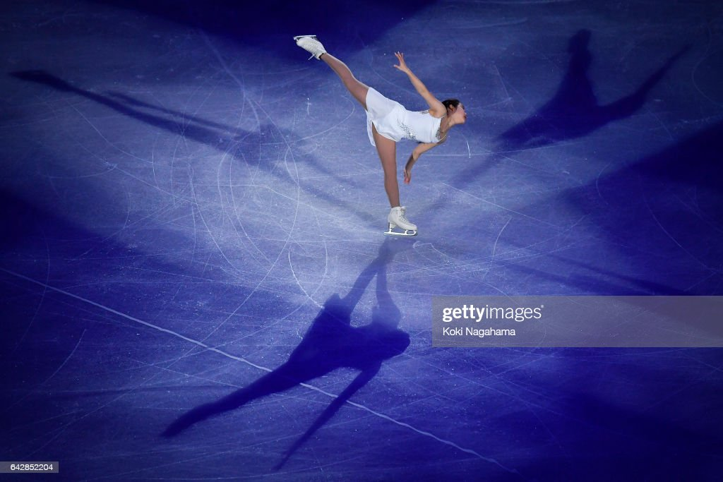 Mai Mihara of Japan performs in the Exhibition program during ISU Four Continents Figure Skating Championships - Gangneung -Test Event For PyeongChang 2018 at Gangneung Ice Arena on February 19, 2017 in Gangneung, South Korea.