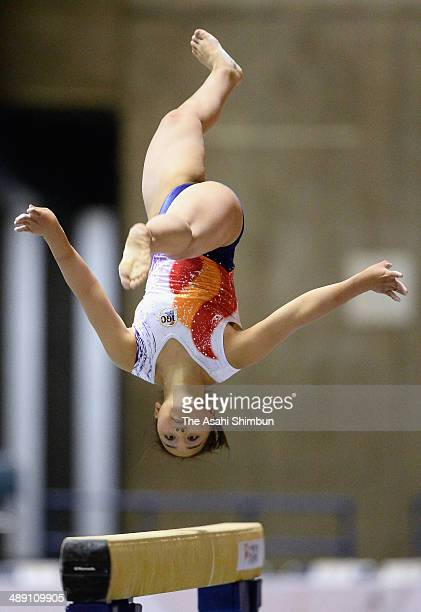 Mai Murakami competes in the balance beam during day two of the All Japan Artistic Gymnastics Individual All Around Championships at Yoyogi National...