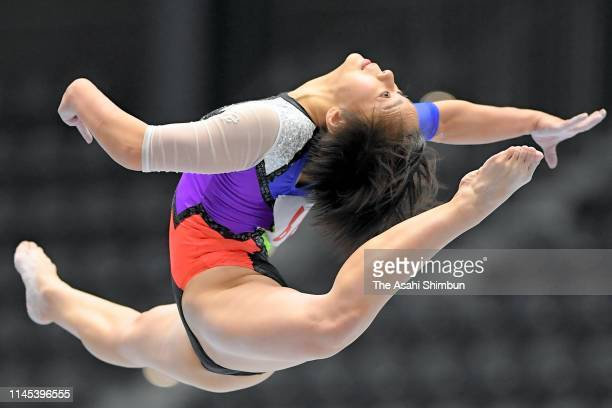Mai Murakami competes in the Balance Beam of the Women's Qualifying on day one of the 73rd All Japan Artistic Gymnastics Individual AllAround...
