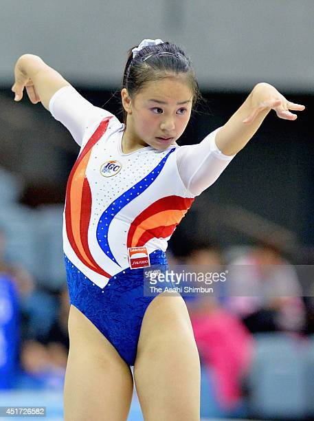 Mai Murakami competes in the floor during day one of the 68th All Japan Gymnastics Apparatus Championships at Chiba Port Arena on July 5 2014 in...