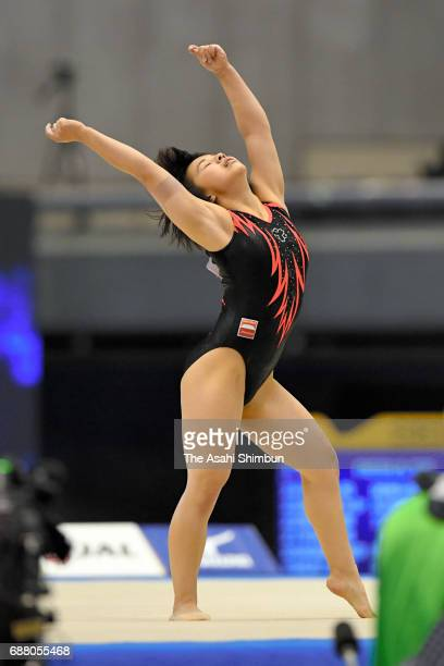 Mai Murakami competes in the Floor of the Women's AllAround during day two of the Artistic Gymnastics NHK Trophy at the Tokyo Metropolitan Gymnasium...