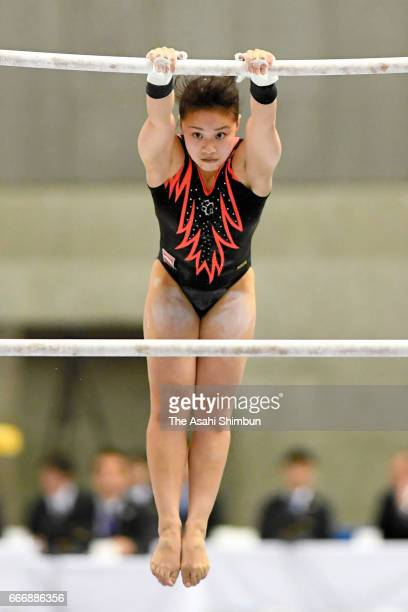 Mai Murakami competes in the Uneven Bars during day one of the All Japan Artistic Gymnastics Championships at Tokyo Metropolitan Gymnasium on April 7...