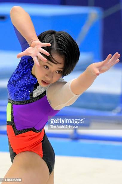Mai Murakami competes in the Women's Floor on day one of the 73rd All Japan Artistic Gymnastics Individual AllAround Championships at Takasaki Arena...
