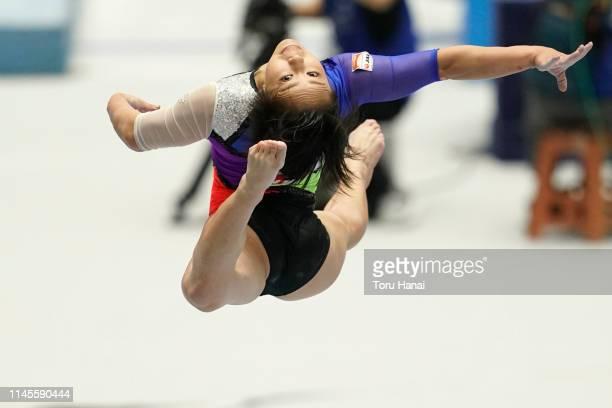 Mai Murakami competes on the balance beam during day three of the 73rd All Japan Artistic Gymnastics Individual AllAround Championships at Takasaki...