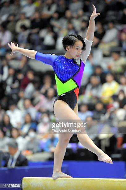 Mai Murakami competes on the Balance Beam of the Women's final on day three of the 73rd All Japan Artistic Gymnastics Individual AllAround...