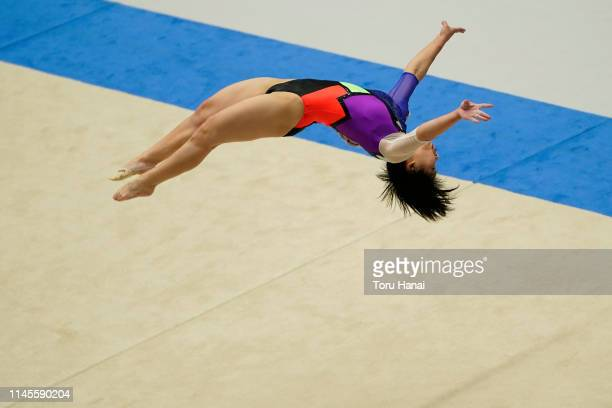 Mai Murakami competes on the floor during day three of the 73rd All Japan Artistic Gymnastics Individual AllAround Championships at Takasaki Arena on...