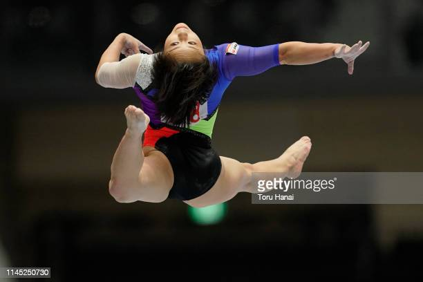Mai Murakami of Japan competes on the balance beam during day one of the 73rd All Japan Artistic Gymnastics Individual AllAround Championships at...