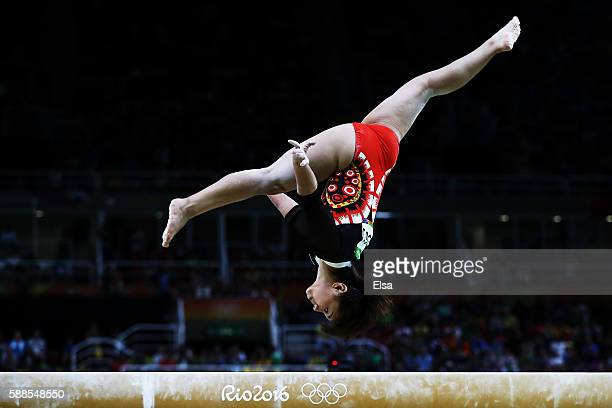 Mai Murakami of Japan competes on the balance beam during the Women's Individual All Around Final on Day 6 of the 2016 Rio Olympics at Rio Olympic...