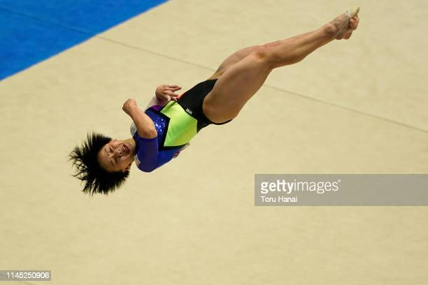 Mai Murakami of Japan competes on the floor during day one of the 73rd All Japan Artistic Gymnastics Individual AllAround Championships at Takasaki...