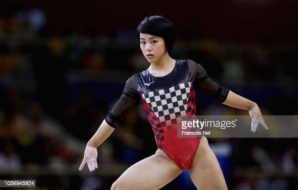 Mai Murakami of Japan competes on the Floor during day ten of the 2018 FIG Artistic Gymnastics Championships at Aspire Dome on November 3 2018 in...