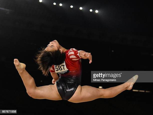 Mai Murakami of Japan competes on the floor exercise during the qualification round of the Artistic Gymnastics World Championships on October 4 2017...