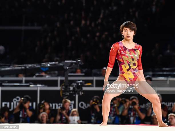 Mai Murakami of Japan competes on the floor exercise during the individual apparatus finals of the Artistic Gymnastics World Championships on October...