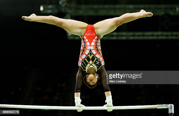 Mai Murakami of Japan competes on the uneven bars during the Women's Individual All Around Final on Day 6 of the 2016 Rio Olympics at Rio Olympic...