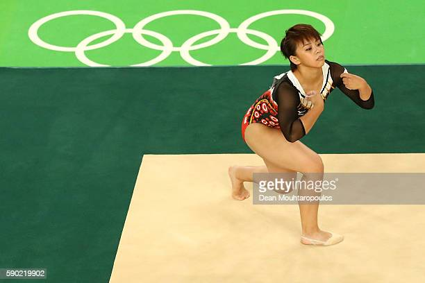 Mai Murakami of Japan competes on the Women's Floor final on Day 11 of the Rio 2016 Olympic Games at the Rio Olympic Arena on August 16, 2016 in Rio...