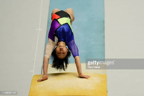 Mai Murakami of Japan competes oon the vault during day one of the 73rd All Japan Artistic Gymnastics Individual AllAround Championships at Takasaki...