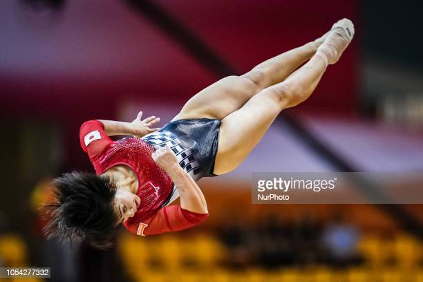 Mai Murakami of Japan during Floor qualification at the Aspire Dome in Doha Qatar Artistic FIG Gymnastics World Championshipson 27 of October 2018