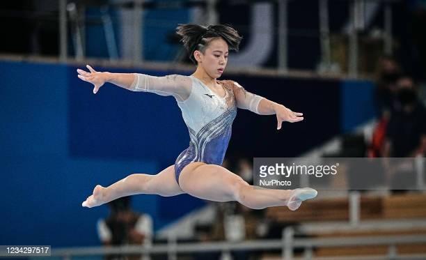 Mai Murakami of Japan during the all around artistic gymnastics final at the Olympics at Ariake Gymnastics Centre, Tokyo, Japan on July 29, 2021.