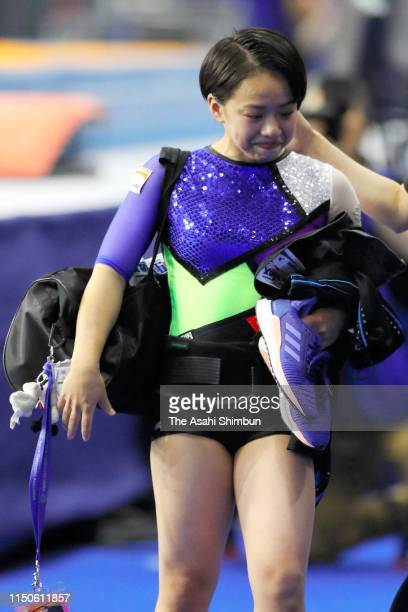 Mai Murakami withdraws herself prior to day one of the Artistic Gymnastics NHK Trophy at Musashino Forest Sport Plaza on May 18 2019 in Chofu Tokyo...