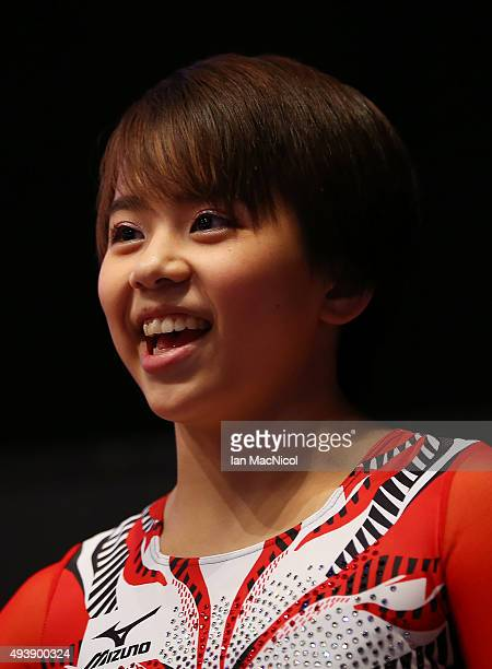 Mai Murakawi of Japan looks on during Day One of the 2015 World Artistic Gymnastics Championships at The SSE Hydro on October 23 2015 in Glasgow...