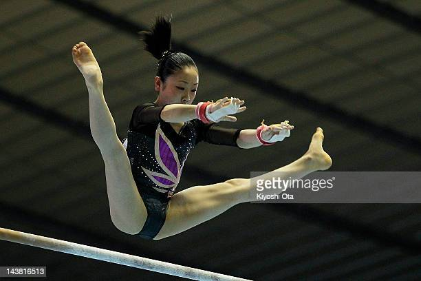 Mai Yamagishi competes in the Women's Uneven Bars during day one of the 51st Artistic Gymnastics NHK Trophy at Yoyogi National Gymnasium on May 4...