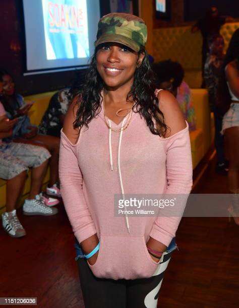 Maia Campbell attends Marlo Soakin Wet Single Release Party at Living Room on May 22 2019 in Atlanta Georgia