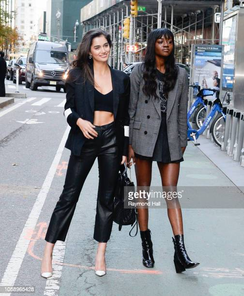 Maia Cotton and Zuri Tibby seen in the streets of Manhattan before the rehearsal of the Victoria Secret Fashion Show on November 7 2018 in New York...