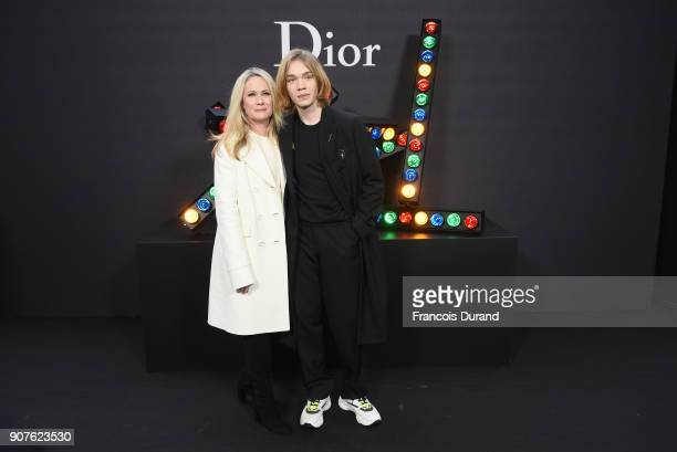 Maia Guest and Charlie Plummer attend Dior Homme Menswear Fall/Winter 20182019 show as part of Paris Fashion Week at Grand Palais on January 20 2018...