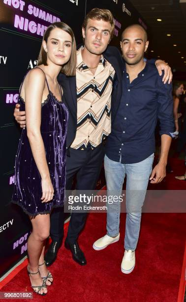 Maia Mitchell Alex Roe and director Elijah Bynum arrive at the screening of A24's 'Hot Summer Nights' at Pacific Theatres at The Grove on July 11...