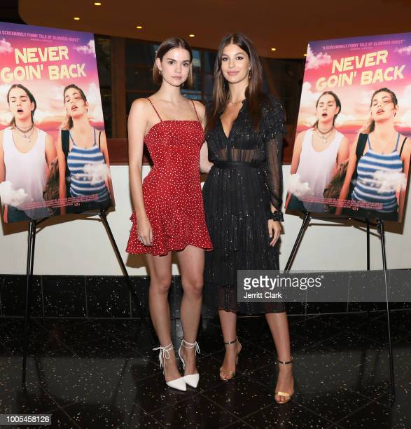 Maia Mitchell and Camila Morrone attend a screening and QA of A24's Never Goin' Back at ArcLight Hollywood on July 25 2018 in Hollywood California