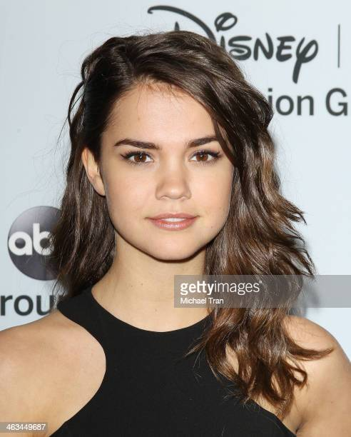 Maia Mitchell arrives at the ABC/Disney 2014 Winter TCA party held at The Langham Huntington Hotel and Spa on January 17 2014 in Pasadena California