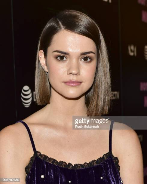 Maia Mitchell arrives at the screening of A24's 'Hot Summer Nights' at Pacific Theatres at The Grove on July 11 2018 in Los Angeles California