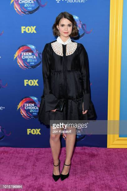 Maia Mitchell attends FOX's Teen Choice Awards at The Forum on August 12 2018 in Inglewood California