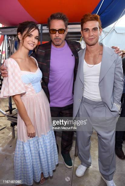 Maia Mitchell Robert Downey Jr and KJ Apa attend FOX's Teen Choice Awards 2019 on August 11 2019 in Hermosa Beach California