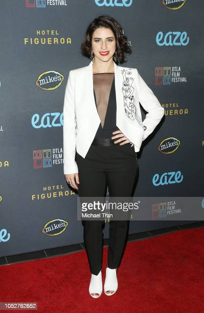 Karolina Susa attends the 2018 Downtown Los Angeles Film Festival 'All Creatures Here Below' 'Original Sin' And Perception' Press line held at Regal...