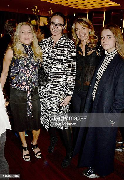 Maia Norman Caroline Rush Anastasia Webster and Nika Webster attend the BFC/Vogue Designer Fashion Fund 2016 winners announcement at Bulgari Hotel on...
