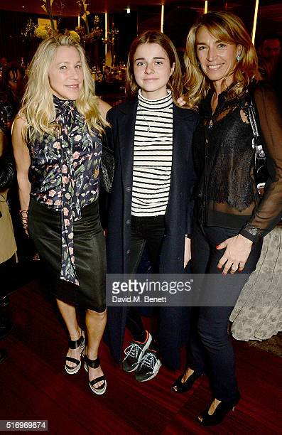 Maia Norman Nika Webster and Anastasia Webster attend the BFC/Vogue Designer Fashion Fund 2016 winners announcement at The Bulgari Hotel on March 22...