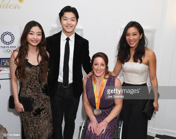 Maia Shibutani Alex Shibutani Tatyana McFadden and Michelle Kwan attend The 6th Annual 'Gold Meets Golden' Brunch hosted by Nicole Kidman and Nadia...