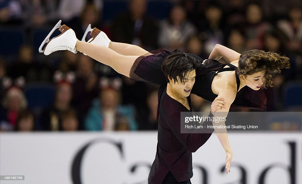 Maia Shibutani and Alex Shibutan of the United States skate during the Ice Dance Free Dance on day two of Skate Canada International ISU Grand Prix of Figure Skating, October, 31, 2015 at ENMAX Centre in Lethbridge, Alberta, Canada.