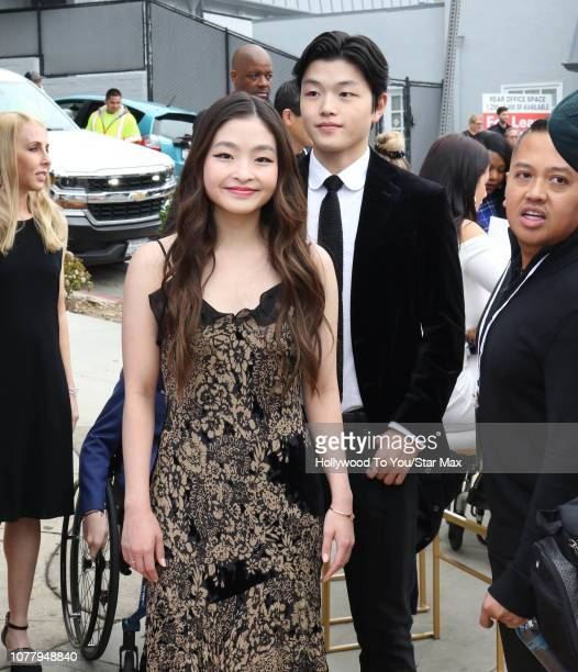 Maia Shibutani and Alex Shibutani are seen on January 5 2019 in Los Angeles CA