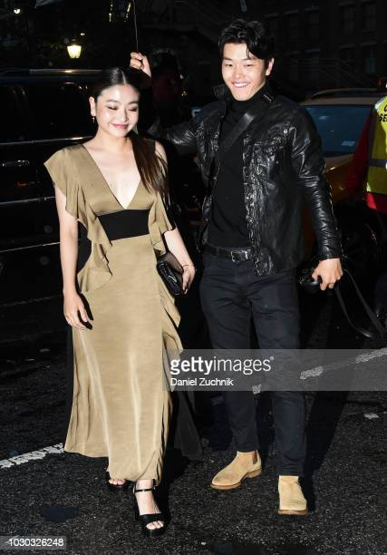 Maia Shibutani and Alex Shibutani are seen outside the Prabal Gurung show during New York Fashion Week Women's S/S 2019 on September 9 2018 in New...