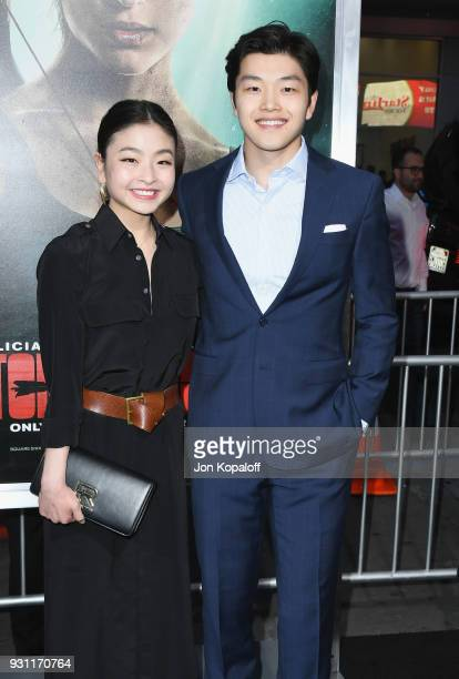 Maia Shibutani and Alex Shibutani attend the Los Angeles Premiere 'Tomb Raider' at TCL Chinese Theatre IMAX on March 12 2018 in Hollywood California