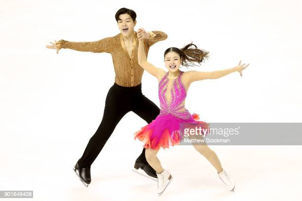 Maia Shibutani and Alex Shibutani compete in the Short Dance during the 2018 Prudential US Figure Skating Championships at the SAP Center on January...