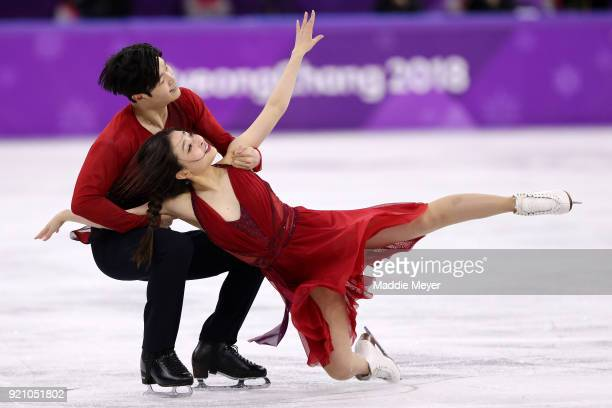 Maia Shibutani and Alex Shibutani of the United States compete in the Figure Skating Ice Dance Free Dance on day eleven of the PyeongChang 2018...