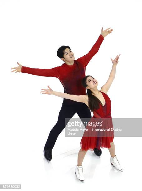 Maia Shibutani and Alex Shibutani of the United States perform in the Ice Dance Free Dance program on Day 3 of the ISU Grand Prix of Figure Skating...