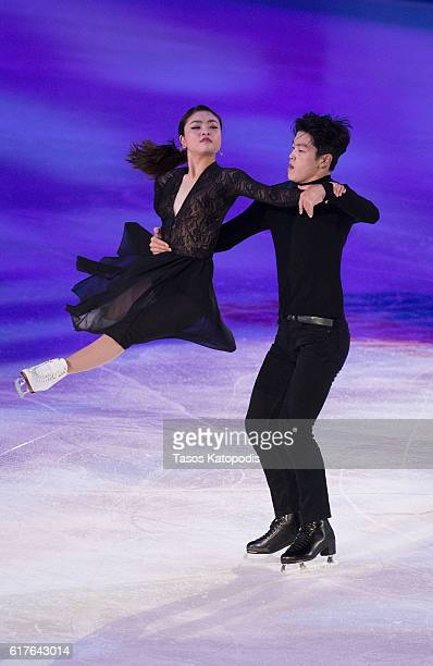Maia Shibutani and Alex Shibutani of the US perform at the Smucker's Skating Spectacular at 2016 Progressive Skate America at Sears Centre Arena on...