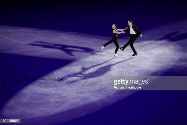 Maia Shibutani and Alex Shibutani of the USA perform during the Figure Skating Gala Exhibition on day 16 of the PyeongChang 2018 Winter Olympics at...